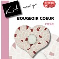 Bougeoir COEUR ROSE