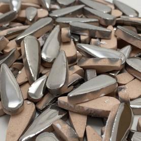 Céramiques Gouttes d'eau ARGENT brillant déclassées 100g
