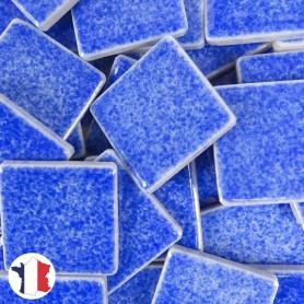 Emaux de Briare couleur ASTER bleu azur brillants pour mosaïque 2,5 × 2,5 cm vendus par 100 g vue de face
