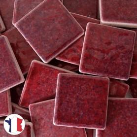 Emaux de Briare couleur QUETSCHE lie de vin brillants pour mosaïque 2,5 × 2,5 cm vendus par 100 g vue de face