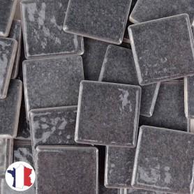 Emaux de Briare couleur SCHISTE gris souris brillants pour mosaïque 2,5 × 2,5 cm vendus par 100 g vue de face
