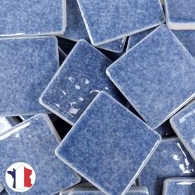 Emaux de Briare couleur ÉGÉE bleu jean's brillants pour mosaïque 2,5 × 2,5 cm vendus par 100 g vue de face