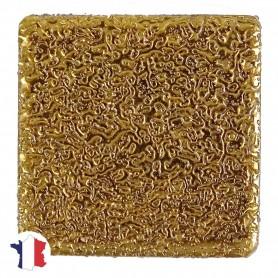 Emaux de Briare couleur OR jaune pour mosaïque 2,5 × 2,5 cm