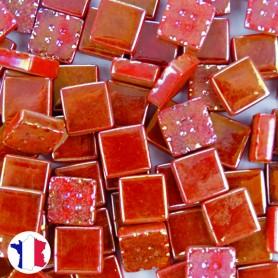 Emaux de Briare Micro-mosaïque Métallisés CUIVRE rouge