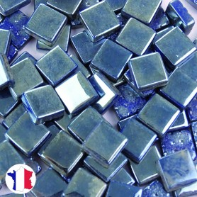 Emaux de Briare Micro-mosaïque Métallisés CHROME bleu