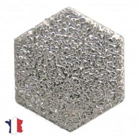 Emaux de Briare hexagone Gemme PLATINE
