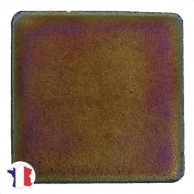 Emaux de Briare métallisés couleur CHROMOÏDE orange pour mosaïque 2,5 × 2,5 cm