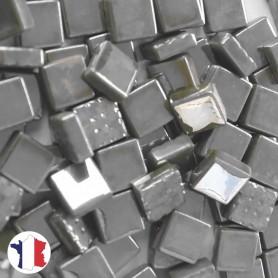 Emaux de Briare Micro-mosaïque métallisés couleur TITANE gris argenté pour mosaïque 1 × 1 cm
