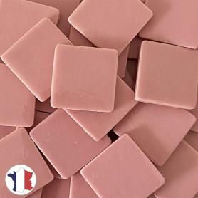 Emaux de Briare couleur ROSE BONBON pour mosaïque 2,5 × 2,5 cm vendus par 100 g