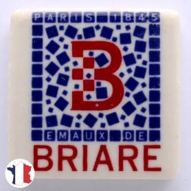 Emaux de Briare LOGO BRIARE bleu et rouge pour mosaïque 2,5 × 2,5 cm vendus à l'unité