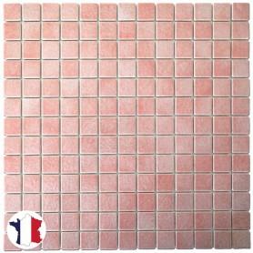 Emaux de Briare couleur CAMÉLIA rose layette brillants pour mosaïque 2,5 × 2,5 cm au m2 vendus par boîte de 9 plaques