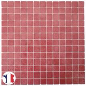 Emaux de Briare FUCHSIA rose brillants pour mosaïque 2,5 × 2,5 cm au m2 vendus par boîte de 9 plaques