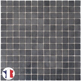 Emaux de Briare SCHISTE gris souris brillants pour mosaïque 2,5 × 2,5 cm au m2 vendus par boîte de 9 plaques