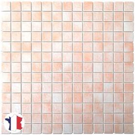 Emaux de Briare PÉTALE rose pâle brillants pour mosaïque 2,5 × 2,5 cm au m2 vendus par boîte de 9 plaques