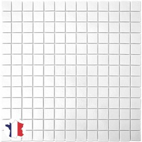 Emaux de Briare MUGUET blanc brillants pour mosaïque 2,5 × 2,5 cm au m2 vendus par boîte de 9 plaques