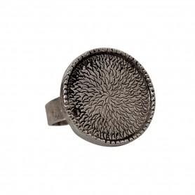 Support bague Rondo ajustable en métal 1,9 cm à décorer en mosaïque