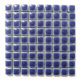 Mini-porcelaine 1 × 1 cm couleur AZUR bleu pour mosaïque vendue à la plaque