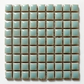 Mini-porcelaine 1 × 1 cm couleur BRUME bleu clair pour mosaïque vendue à la plaque