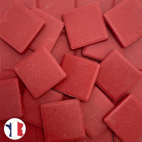 Emaux de Briare Mazurka couleur RUBIS rouge foncé mats pour mosaïque 2,5 × 2,5 cm vendus par 100 g