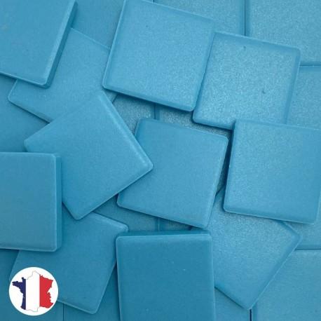 Emaux de Briare Mazurka couleur TURQUOISE bleu mats pour mosaïque 2,5 × 2,5 cm vendus par 100 g