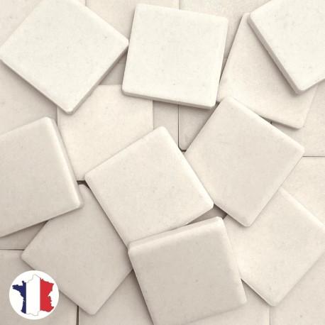 Emaux de Briare Mazurka couleur CRAIE blanc mats pour mosaïque 2,5 × 2,5 cm vendus par 100 g