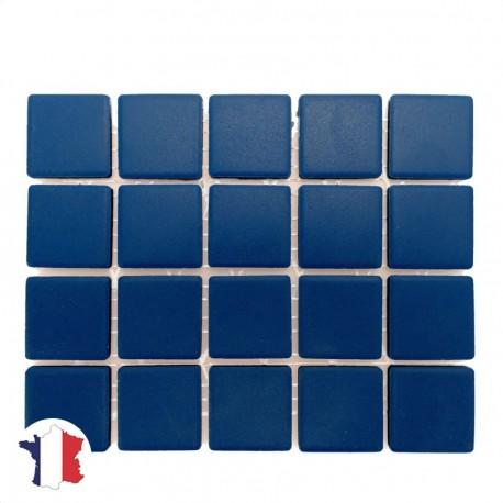 Emaux de Briare Mazurka couleur SAPHIR bleu électrique mats pour mosaïque 2,5 × 2,5 cm vendus sur filet