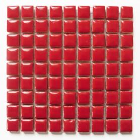Mini-porcelaine 1 × 1 cm couleur FRAISE rouge pour mosaïque vendue à la plaque