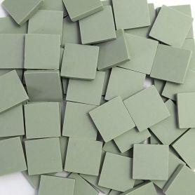 Grès cérame Pistache vert mat 2 × 2 cm