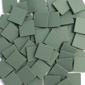 Grès cérame Vert mat 2 × 2 cm