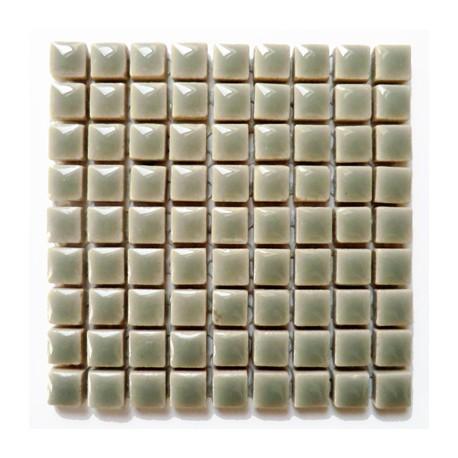 Mini-porcelaine 1 × 1 cm couleur TOURTERELLE gris clair pour mosaïque vendue à la plaque