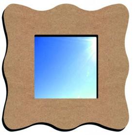Miroir vague 23 cm en médium pour mosaïque ou autres techniques de loisirs créatifs