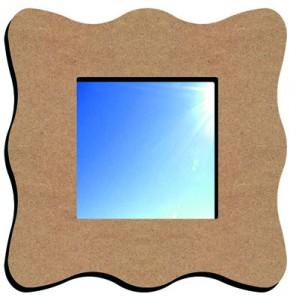 Miroir vague petit modele en medium for Miroir vague