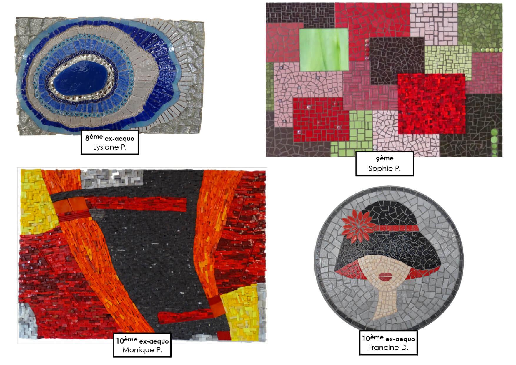 Création mosaïque en smalt vénitiens et émaux de Briare