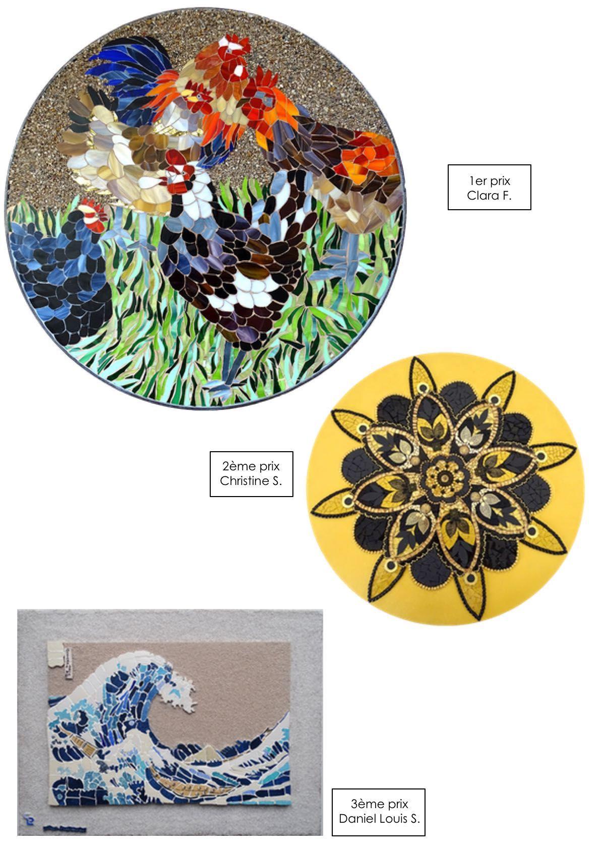 Mandalas, vague Hokusai et poules en mosaïque