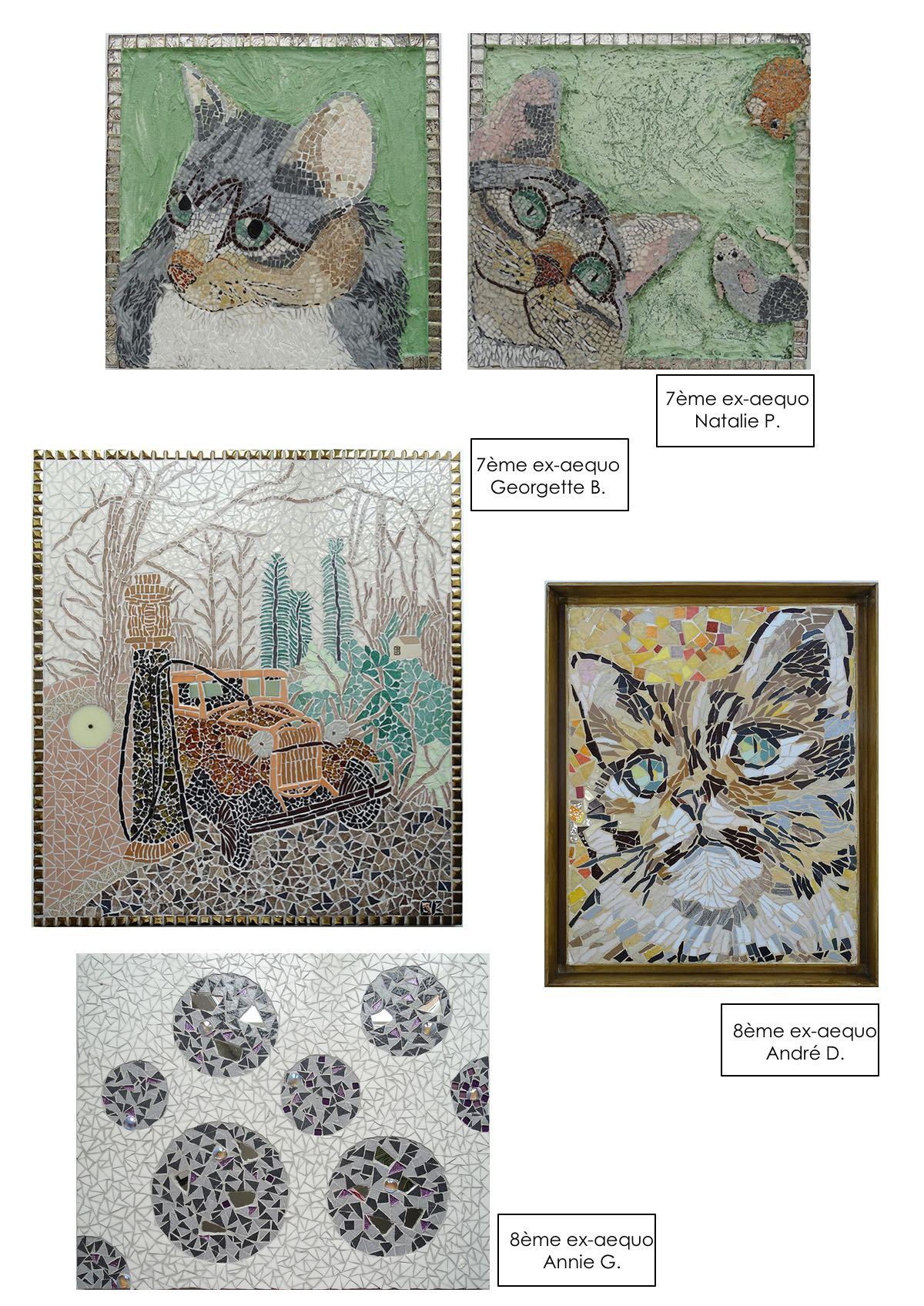 Chats en mosaïque